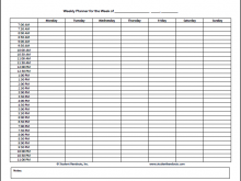 35 Report Student Schedule Template Free For Free with Student Schedule Template Free