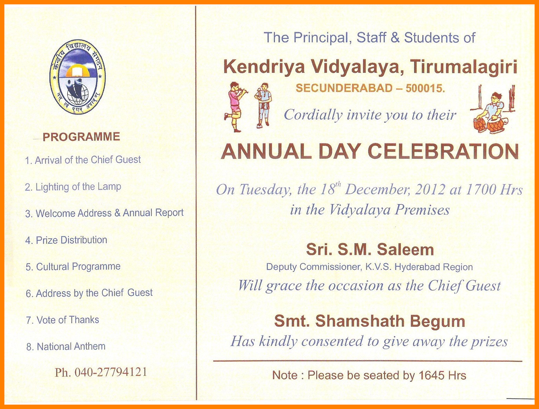 35 Standard Invitation Card Sample For Annual Function in