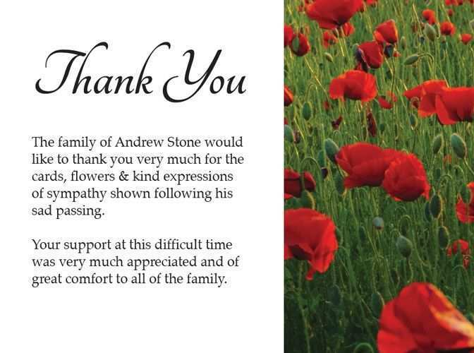 35 Standard Thank You Card Template Sympathy for Ms Word with Thank You Card Template Sympathy