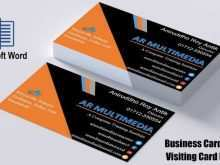 35 Visiting Business Card Template For Word 2013 Maker by Business Card Template For Word 2013