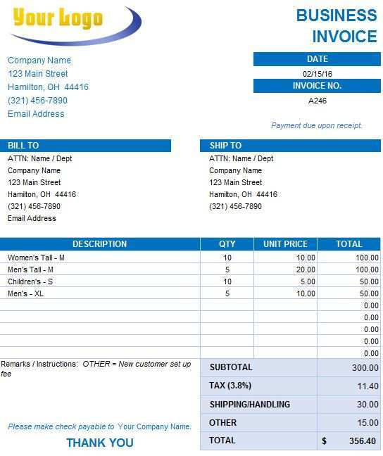 35 Visiting Company Invoice Template Free For Free by Company Invoice Template Free