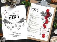 36 Adding Christmas Menu Card Template Free Templates for Christmas Menu Card Template Free