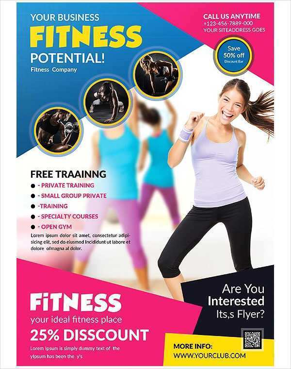 Fitness Flyer Template Free from legaldbol.com