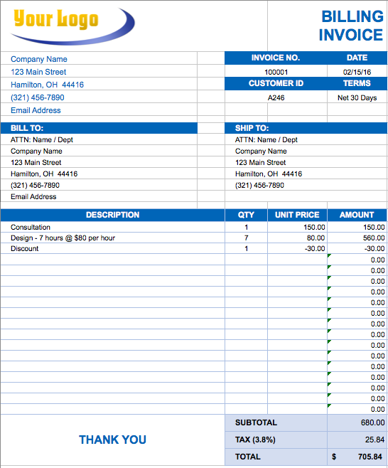 36 Create Company Tax Invoice Template for Ms Word with Company Tax Invoice Template
