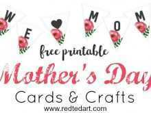 Mother'S Day Card Craft Template