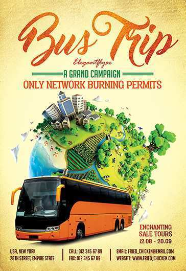 36 Creative Bus Trip Flyer Templates Free With Stunning Design for Bus Trip Flyer Templates Free
