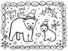 36 Creative Christmas Card Templates Colour In With Stunning Design with Christmas Card Templates Colour In