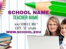 Name Card Template School