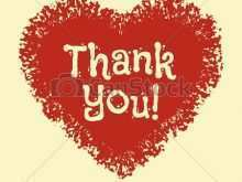 36 Customize Our Free Heart Thank You Card Template For Free with Heart Thank You Card Template