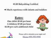 36 Free Babysitting Flyer Free Template Layouts for Babysitting Flyer Free Template
