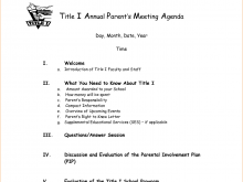 Meeting Agenda Example Doc