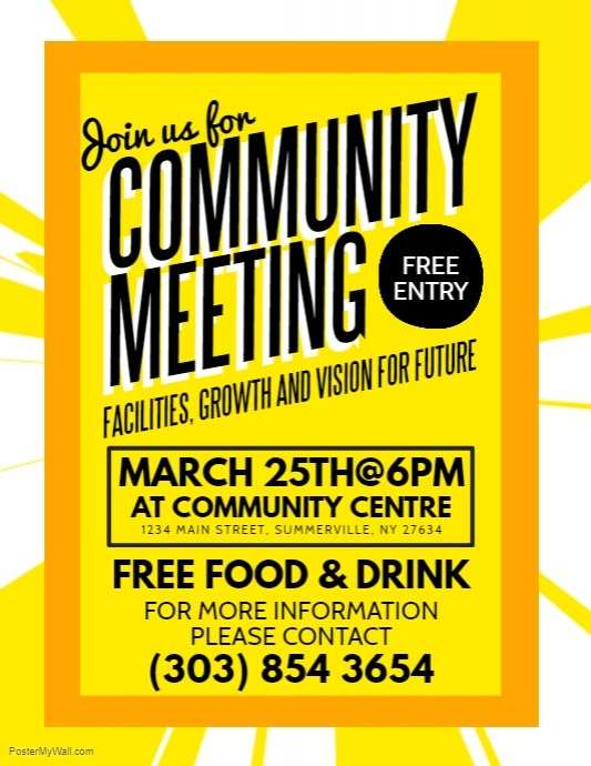 36 Free Printable Meeting Flyer Template in Word by Meeting Flyer Template