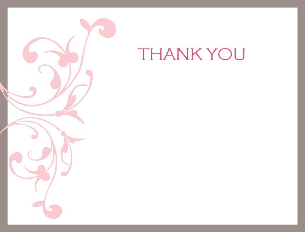 Thank You Card Template With Picture - Cards Design Templates