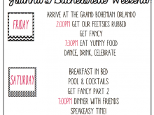 36 Report Hen Party Agenda Template For Free with Hen Party Agenda Template