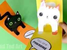 36 Standard Birthday Card Template Cat Download by Birthday Card Template Cat