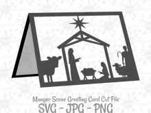 Christmas Card Nativity Templates