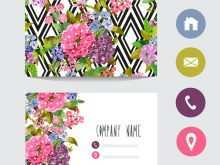 36 Standard Floral Business Card Template Free Download in Photoshop with Floral Business Card Template Free Download