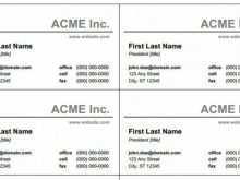 36 Standard Name Card Template Doc for Name Card Template Doc