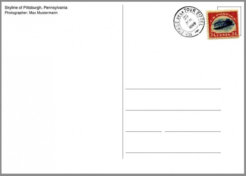 36 Standard Postcard Template On Word Now with Postcard Template On Word