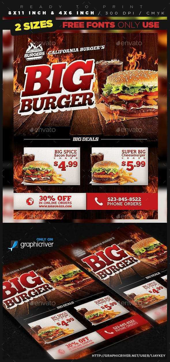 36 The Best Burger Flyer Template Now by Burger Flyer Template