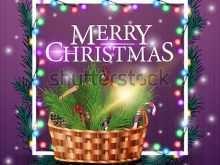 Template For Christmas Card Basket
