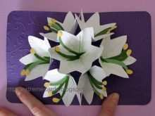 37 Blank Flower Pop Up Card Template Free PSD File with Flower Pop Up Card Template Free