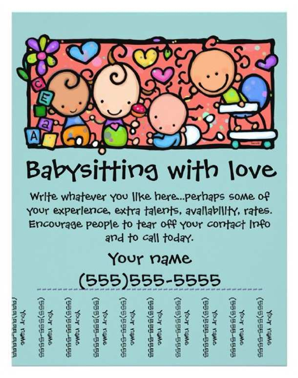 37 Create Babysitting Flyer Free Template Now with Babysitting Flyer Free Template