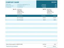 37 Create Blank Invoice Template Excel by Blank Invoice Template Excel