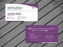 Business Card Template English Teacher