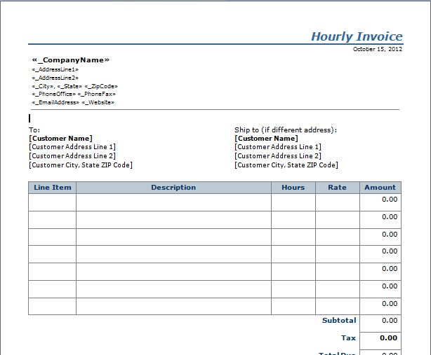 37 Create Hourly Pay Invoice Template Now With Hourly Pay Invoice Template Cards Design Templates