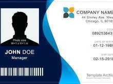 Id Card Template On Word