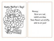 37 Creating Mother S Day Card Templates To Color Templates with Mother S Day Card Templates To Color
