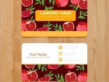 Name Card Template Food