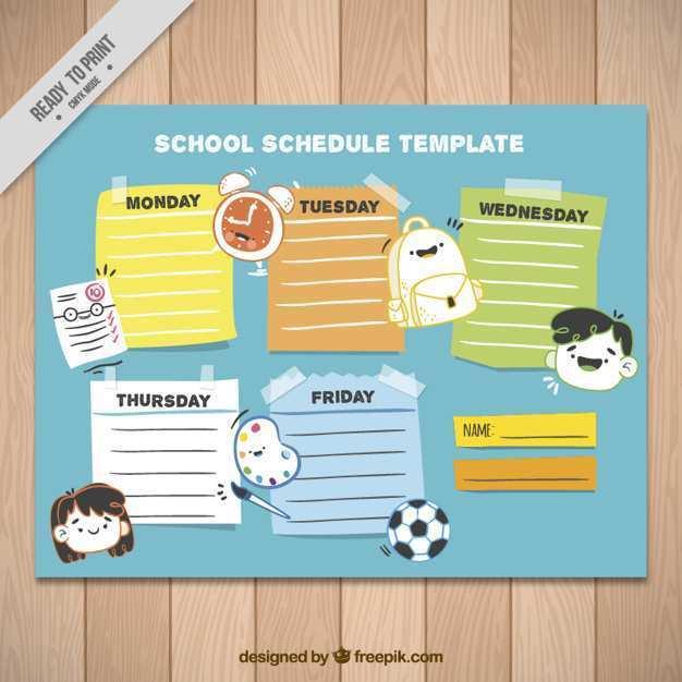 37 Creative Class Schedule Template Design Templates by Class Schedule Template Design