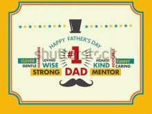 37 Creative Father S Day Card Template For Word With Stunning Design by Father S Day Card Template For Word