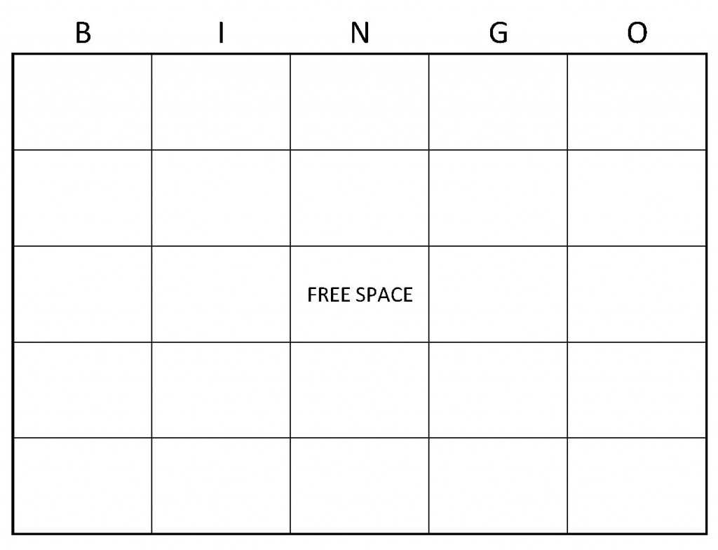 37 Customize Bingo Card Templates Microsoft Word for Ms Word for Bingo Card Templates Microsoft Word
