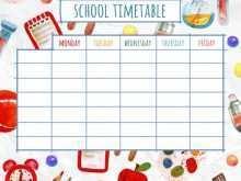 Class Schedule Template Design