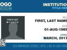 Press Id Card Template Word