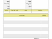 Motor Vehicle Tax Invoice Template