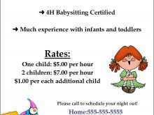 37 Free Babysitter Flyers Template Photo for Babysitter Flyers Template