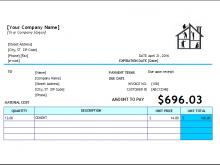 37 Free Printable House Repair Invoice Template For Free for House Repair Invoice Template