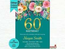 37 How To Create 60Th Birthday Card Template Free in Word with 60Th Birthday Card Template Free