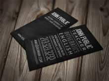 37 Online Business Card Template English Teacher Formating for Business Card Template English Teacher
