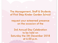 Invitation Card Sample For Annual Day At School Cards