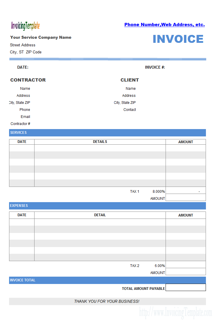 37 Printable Construction Invoice Template Nz in Word for Construction Invoice Template Nz