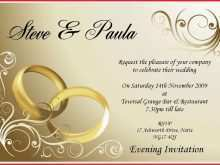 Marriage Invitation Card Format Kerala