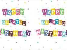 37 The Best Happy Belated Birthday Card Template Download with Happy Belated Birthday Card Template