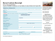 Hotel Receipts Template