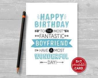 Birthday Card Template Boyfriend Cards Design Templates