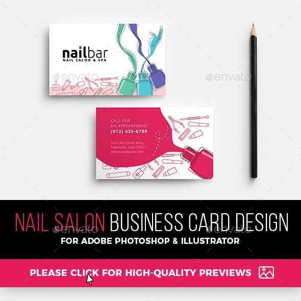 37 Visiting Business Card Templates For Nail Salon for Business Card Templates For Nail Salon